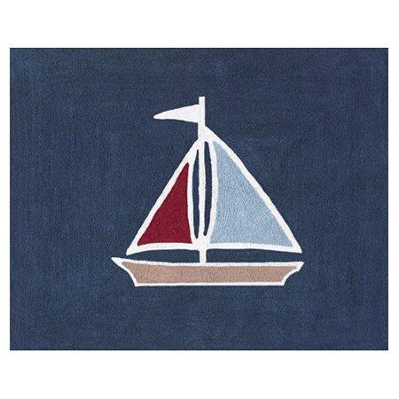 Nautical Nights Floor Blue Area Rug by Sweet Jojo Designs