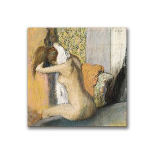 After the Bath Woman Drying Neck by Edgar Degas Painting Print on Wrapped Canvas by Trademark Fine Art
