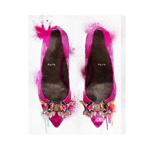 'Party Time Heels' Graphic Art Print on Canvas by House of Hampton