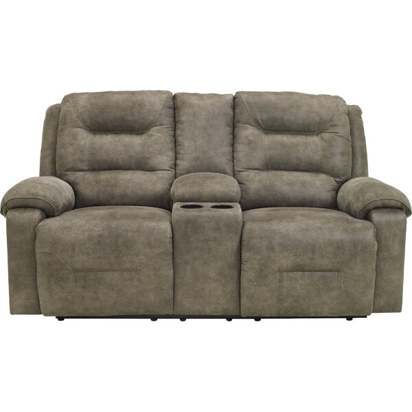 Tressider Reclining Loveseat with Console by Loon Peak
