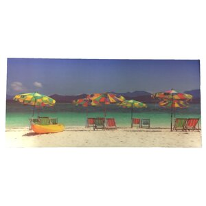 '3D Printing with Beach Chairs and Umbrellas' Photographic Print on Canvas by Creative Motion