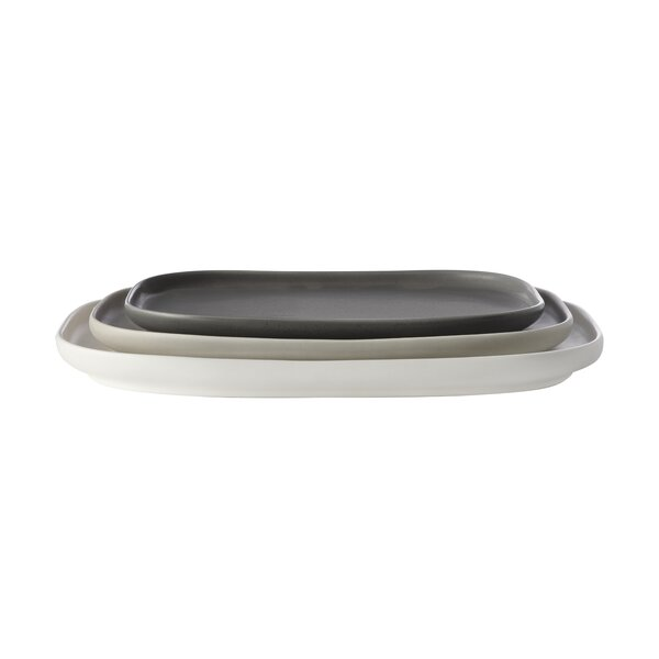 Elemental Rectangle 3 Piece Platter by Maxwell & W