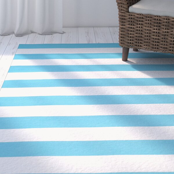 Arely Turquoise/Ivory Area Rug by Breakwater Bay
