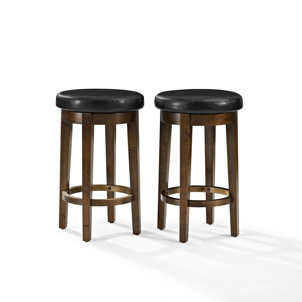 Hoskinson 26 Swivel Bar Stool (Set of 2) by Charlton Home