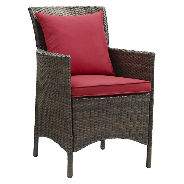 Rosenberry Patio Dining Chair with Cushion by Breakwater Bay