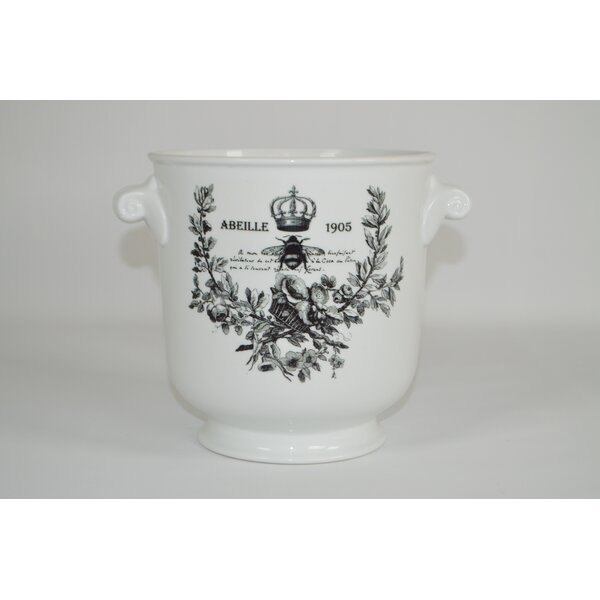 Charlotte Rolled Handled Ceramic Pot Planter by The French Bee