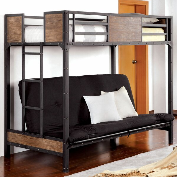 Fresno Twin Futon Bunk Bed by Harriet Bee