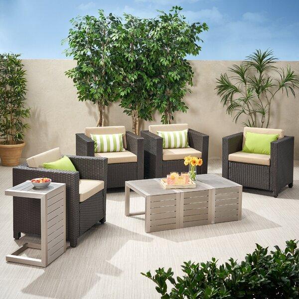 Furst 8 Piece Conversation Set with Cushions by Wade Logan