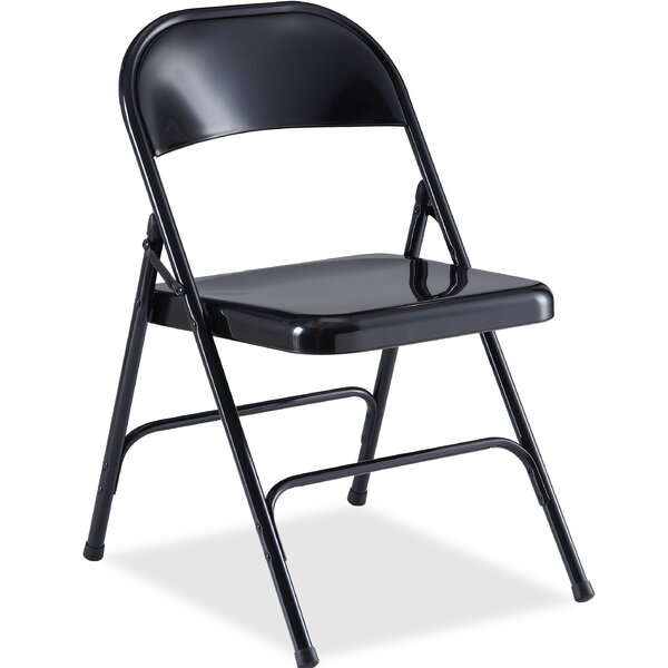 Metal Folding Chair by Lorell