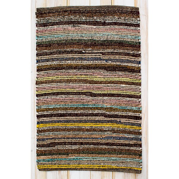 Paris Hand Woven Cotton Brown/Yellow/Black Area Rug by CLM