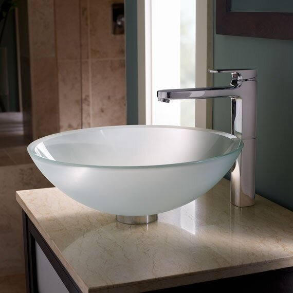 Moments Vessel Faucet with Grid Drain by American Standard