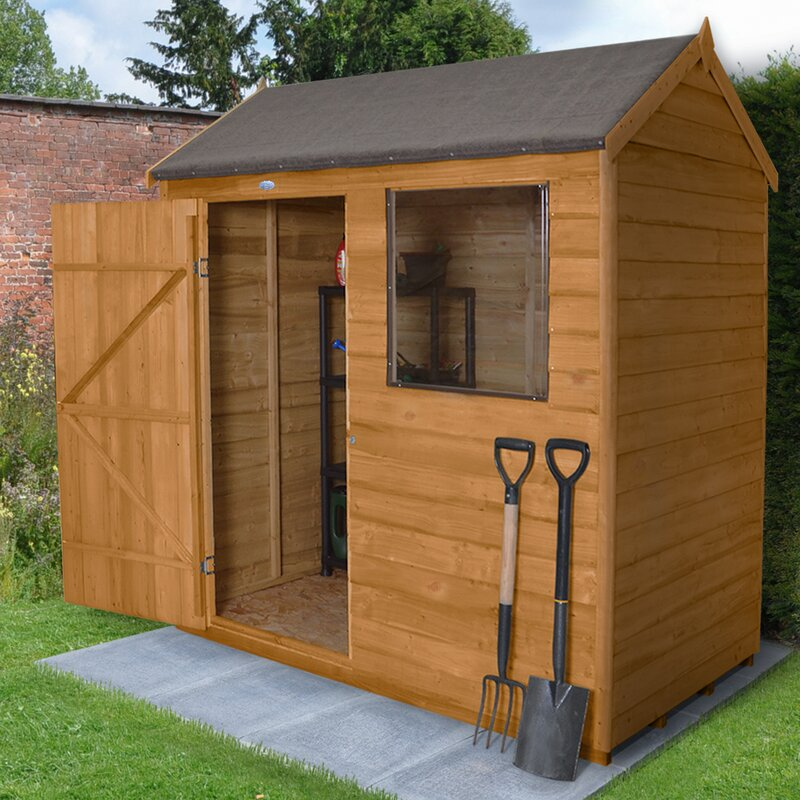 6 x 4 wooden storage shed