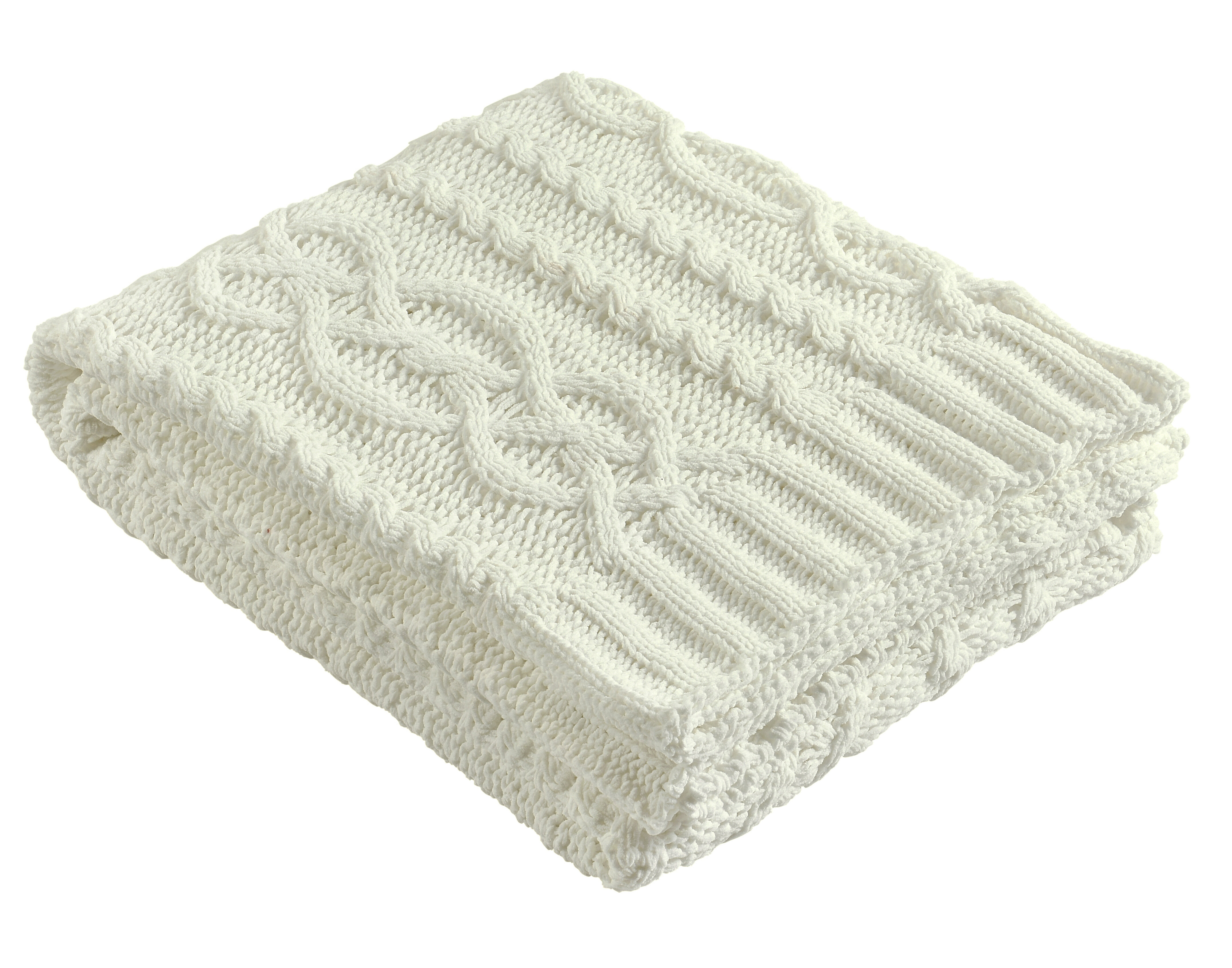Brielle Chenille Chunky Cable Knit Throw & Reviews | Wayfair