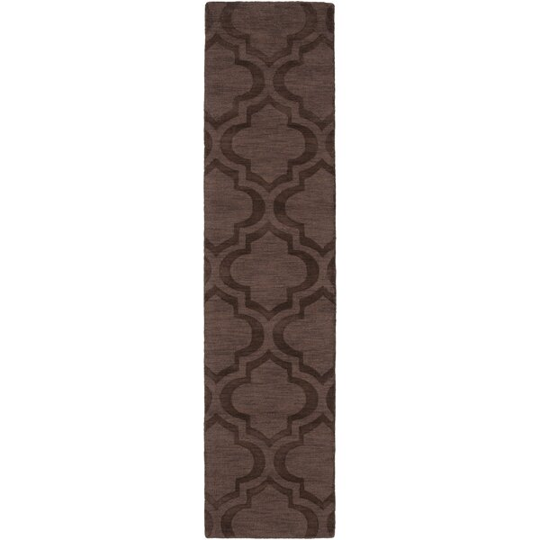 Castro Brown Geometric Kate Area Rug by Wrought Studio