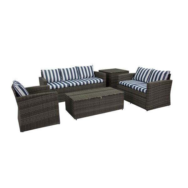 Ridgemoor 5 Piece Sofa Set with Cushions by Breakwater Bay
