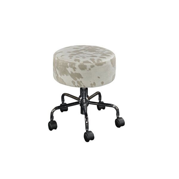 Aspen Hill Rolling Height Adjustable Stool by Ivy Bronx
