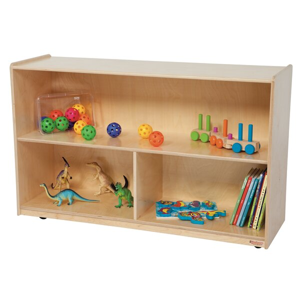 Clarendon Folding 3 Compartment Shelving Unit with Casters by Symple Stuff