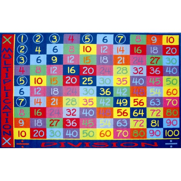 Fun Time Multiplication Classroom Area Rug by Fun Rugs