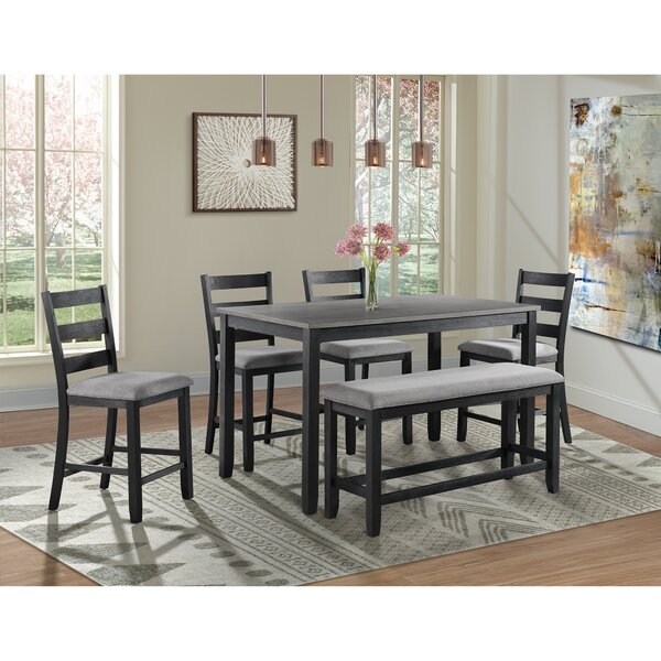 Mavis Counter Height 6 Piece Pub Table Set by Alcott Hill