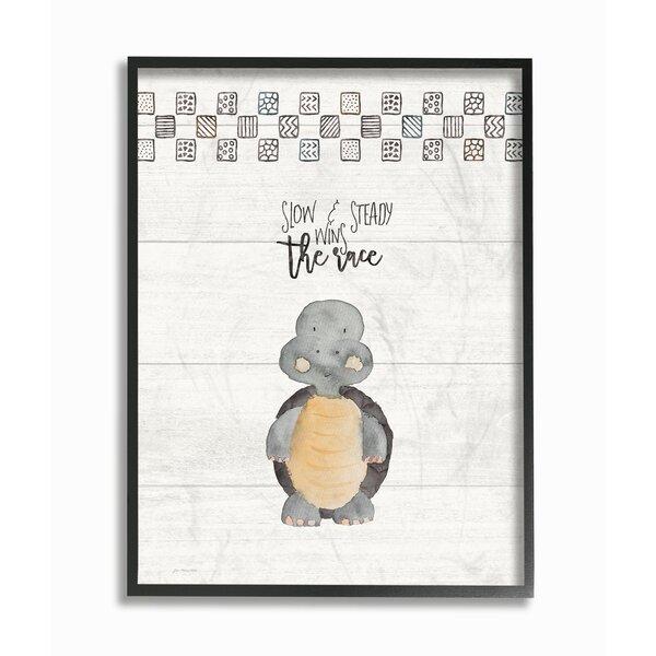 Farren Slow and Steady Wins Turtle Framed Art by Harriet Bee