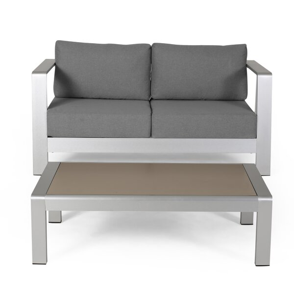 Wolsingham Outdoor 2 Piece Deep Seating Group with Cushions by Orren Ellis