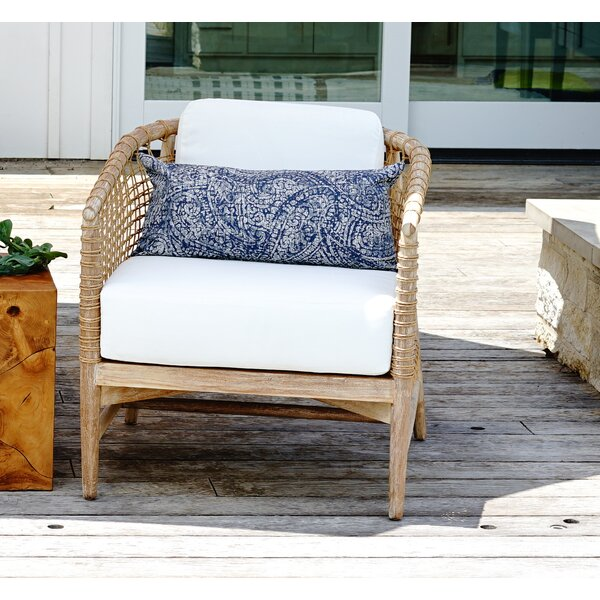 Yahya Teak Patio Chair with Cushions by Bay Isle Home Bay Isle Home