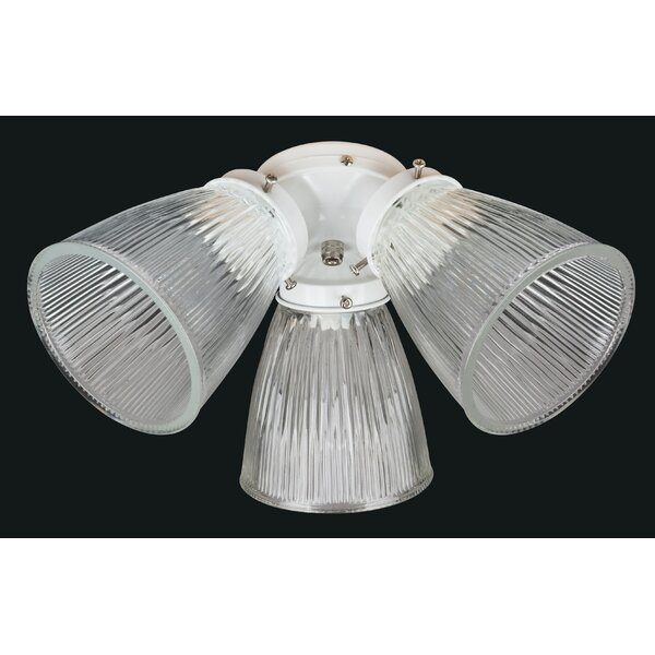 3-Light Branched Ceiling Fan Light Kit by Concord Fans