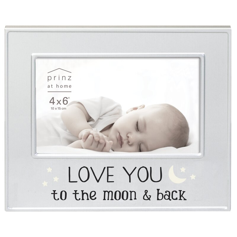 Prinz \'Love You to the Moon and Back\' Metal Picture Frame   Wayfair