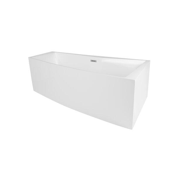 Encino 70.88 x 39 Freestanding Soaking Bathtub by Maykke