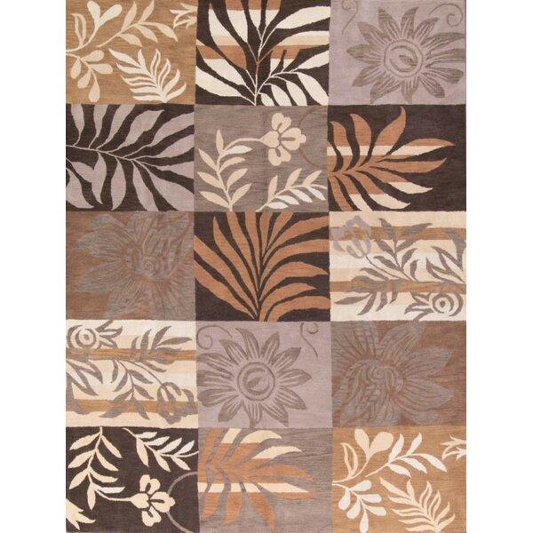 Hagan Hand-Tufted Wool Brown/Beige Area Rug by Bayou Breeze
