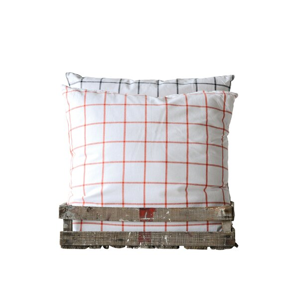 Bartell Check Cotton Throw Pillow (Set of 2) by Gracie Oaks