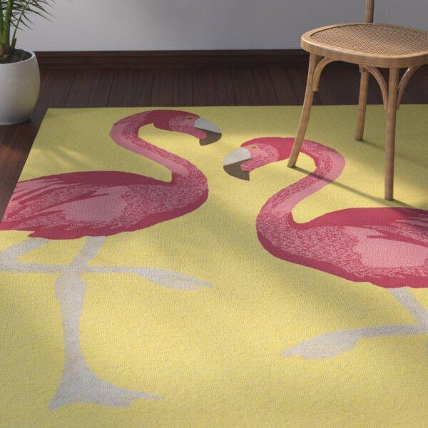 Brianna Handmade Yellow Indoor/Outdoor Area Rug by Beachcrest Home