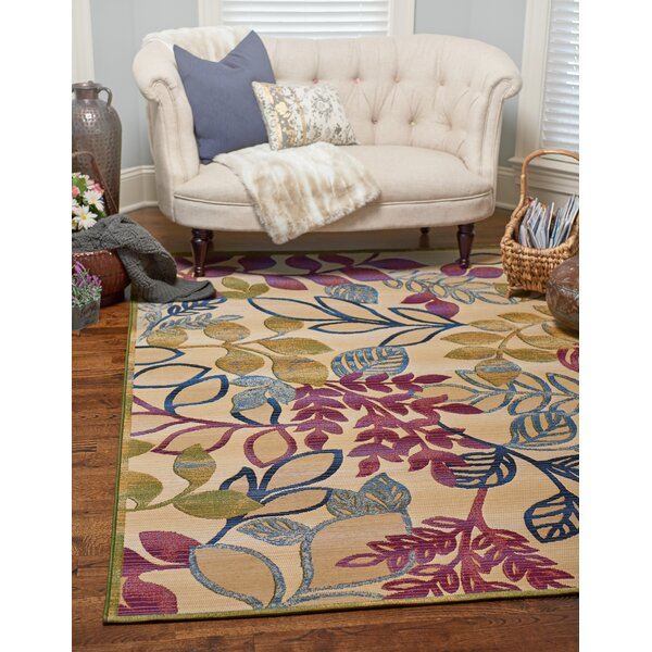 Ronda Cream Indoor/Outdoor Area Rug by Ebern Designs