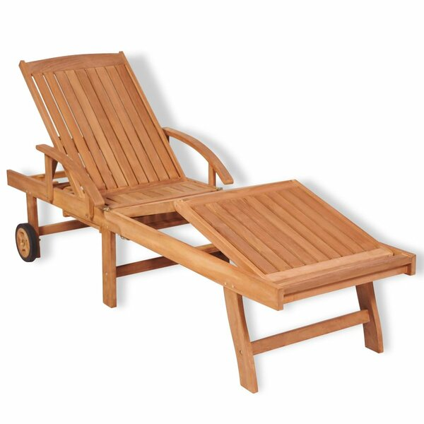 Fellman Reclining Teak Chaise Lounge by Highland Dunes Highland Dunes