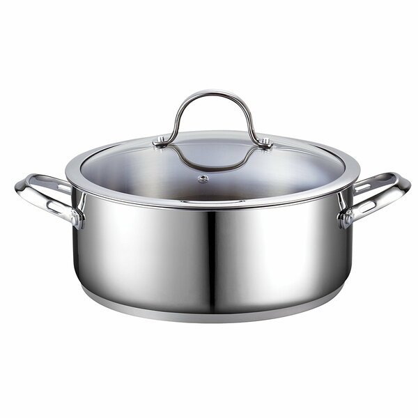 Classic 7 Qt. Stainless Steel Round Dutch Oven by Cooks Standard
