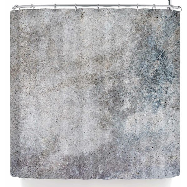 Susan Sanders Grey Urban Concrete. Shower Curtain by East Urban Home
