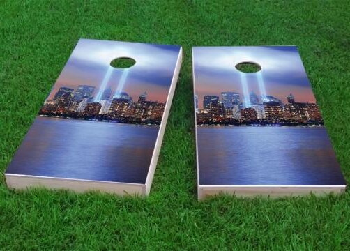 September 11th Light Memorial Cornhole Game (Set of 2) by Custom Cornhole Boards