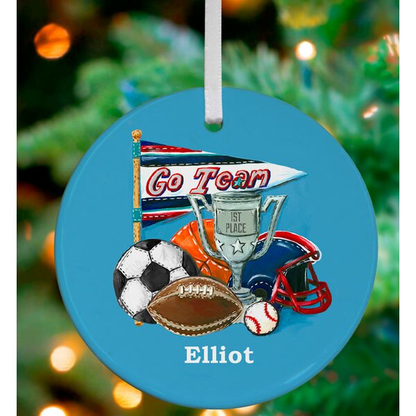 Go Team! Personalized Ornament by Jones Segarra by Oopsy Daisy