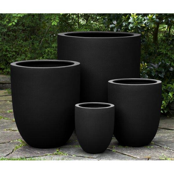 Wetterland 4-Piece Fiberglass Pot Planter Set by 17 Stories