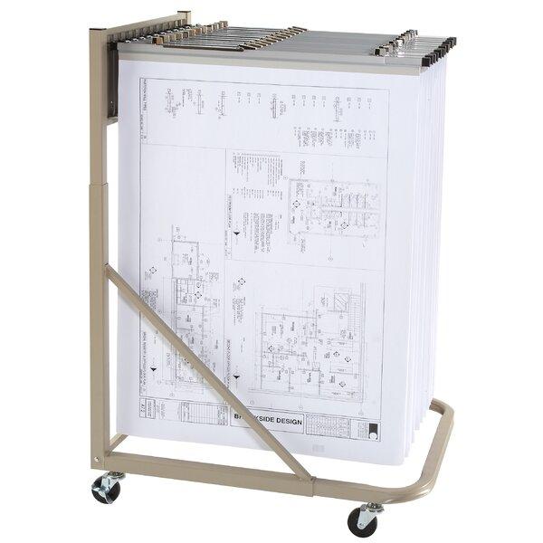 Vertical Mobile Hanging Filing Cart by Brookside Design| @ $282.99