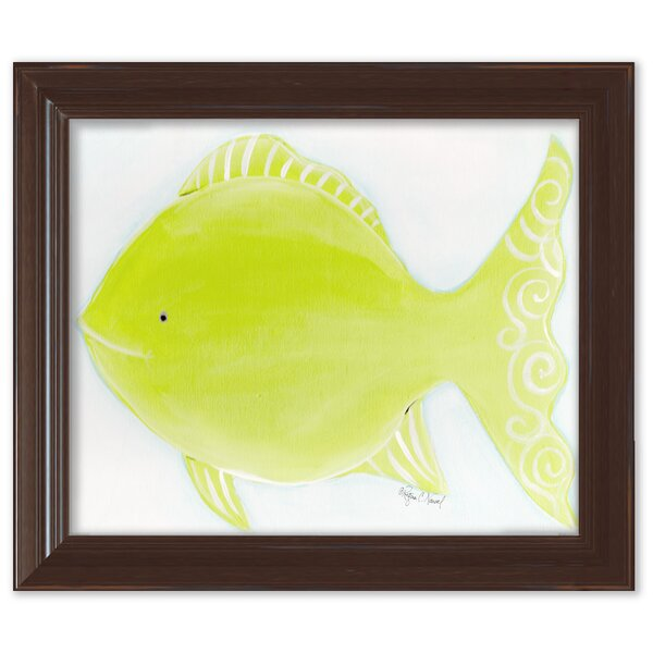 Sea Creatures Flicka the Fish Framed Art by Doodlefish