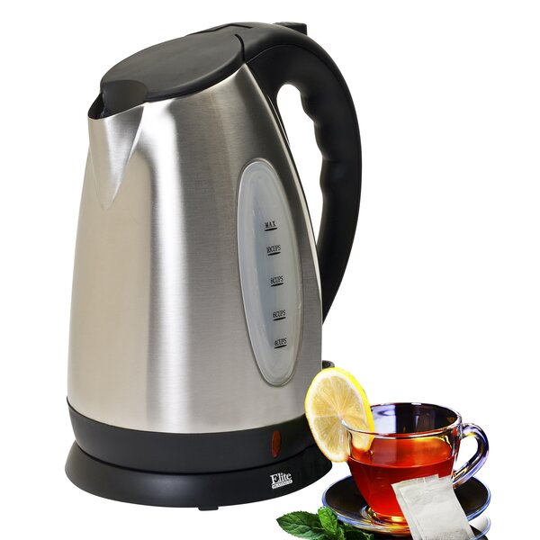 Platinum 1.8 Qt. Stainless Steel Cordless Electric Water Kettle by Elite by Maxi-Matic
