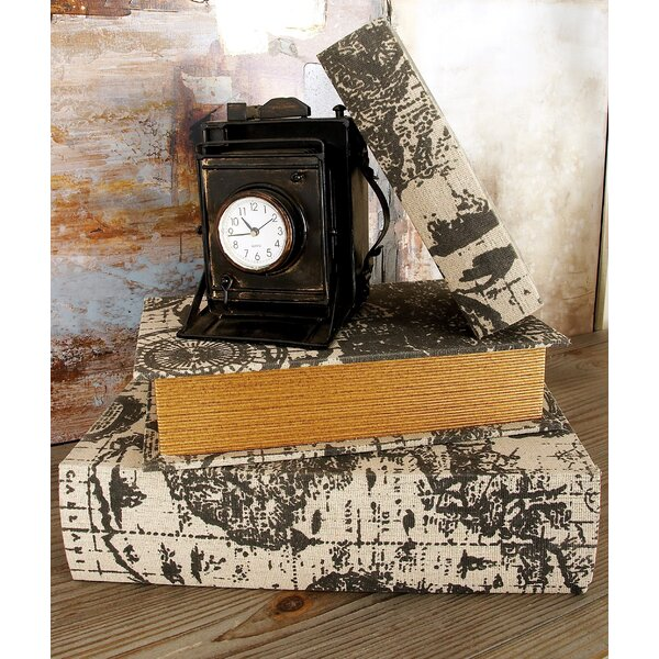 Titus 3 Piece Wood Book Box Set by Beachcrest Home