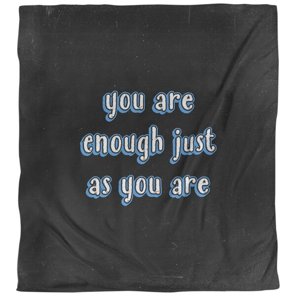 You Are Enough Quote Single Duvet Cover