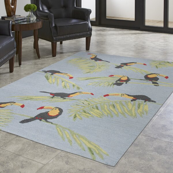 Arida Toucans Hand-Tufted Blue Indoor/Outdoor Area Rug by Bayou Breeze