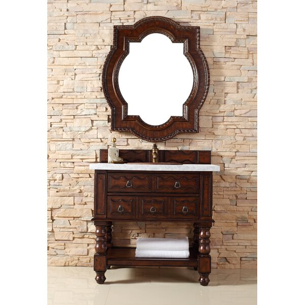 Avedon 36 Single Aged Cognac Bathroom Vanity Set by Astoria Grand