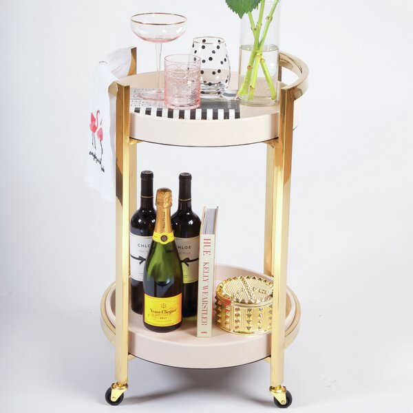 Silva Bamboo Bar Cart By Everly Quinn Sale