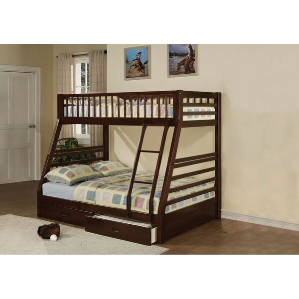 Edgin Twin Over Full Bunk Bed with Drawers by Harriet Bee