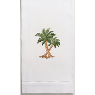 Melvin Palm Tree Embroidered 100 Cotton Hand Towel