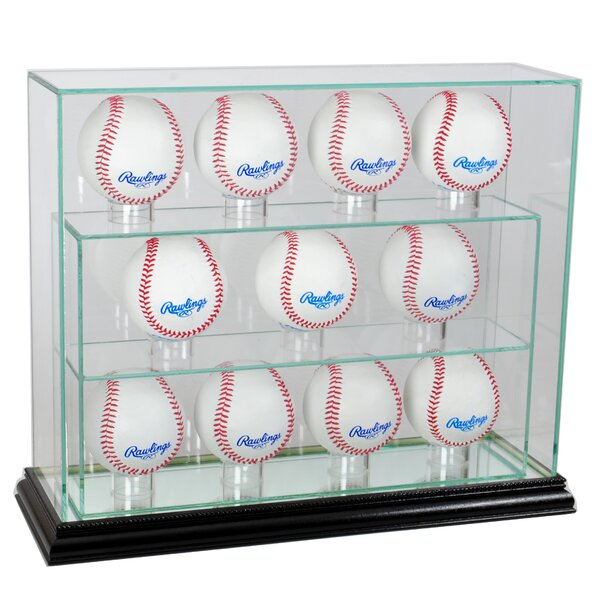 Eleven Baseball Upright Display Case by Perfect Cases and Frames